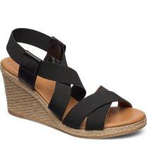 espadrilles 4324 sandalette med klack espadrilles svart billi bi