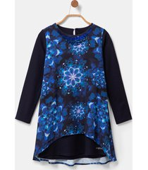 dress mandalas tie-dye - blue - 13/14