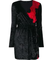 marcelo burlon county of milan chenille camouflage dress - black