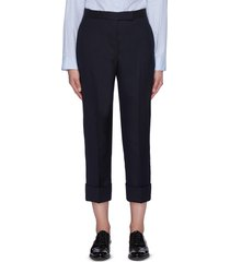 crop twill suiting pants