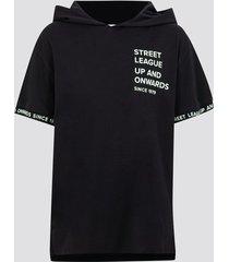t-shirt med luva - svart