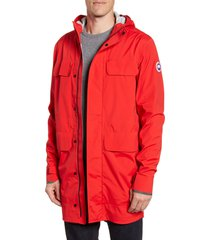 men's canada goose seawolf packable waterproof jacket, size large - red