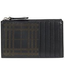 alwyn perforated leather card case