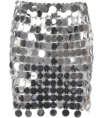 paco rabanne plastic paillettes mini skirt