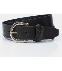 cinturón unifaz de cuero pasador trenzado