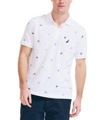 nautica men's classic fit printed polo shirt