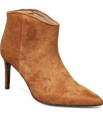 aeja suede shoes boots ankle boots ankle boots with heel brun custommade