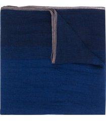 brunello cucinelli weave panel scarf - blue