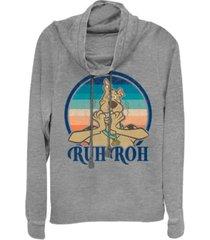 fifth sun scooby-doo ruh roh sunset cowl neck juniors pullover fleece