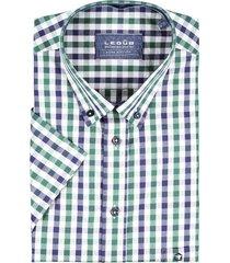 ledub shirt geruit groen navy korte mouw