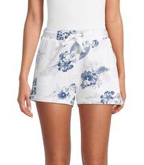 vintage havana women's burnout high waisted shorts - denim toil - size l