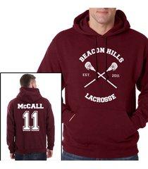 mccall 11 scott mccall cross beacon hills lacrosse maroon hoodie teen wolf