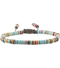 african light blue vinyl oxidized disc bracelet