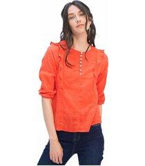 blusa para mujer en algodón rojo color-rojo-talla-xs