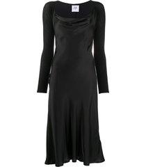 opening ceremony cowl-neck satin dress - black