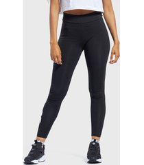 calza reebok cl pf logo legging negro - calce ajustado