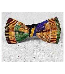 cotton kente bow tie, 'akan delight' (ghana)