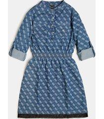 denimowa sukienka z logo 4g